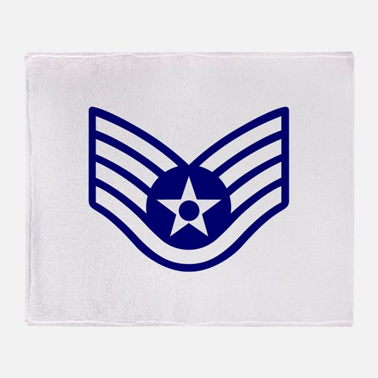 USAF E-5 STAFF SERGEANT Throw Blanket