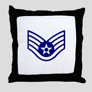 USAF E-5 STAFF SERGEANT Throw Pillow