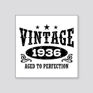 "Vintage 1936 Square Sticker 3"" x 3"""