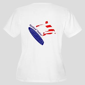 Usa Boarding Sports Plus Size T-Shirt
