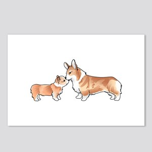CORGI ADULT AND PUP Postcards (Package of 8)