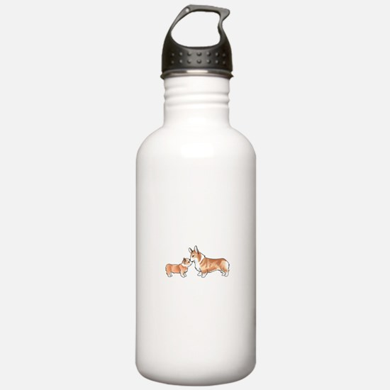 CORGI ADULT AND PUP Water Bottle