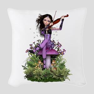 Amethyst Fairy ~ Summer Melody Woven Throw Pillow
