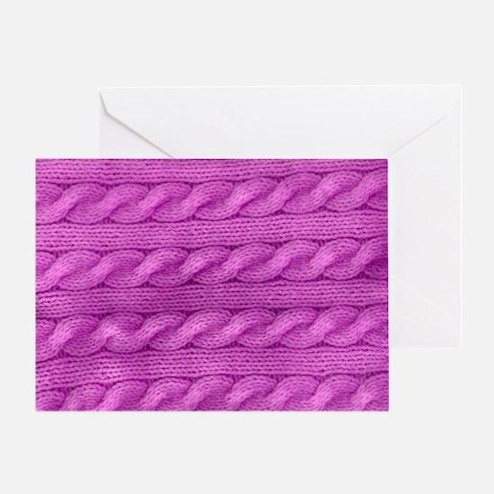Unique Purple row Greeting Card