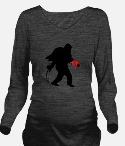 Valentine Sasquatch Long Sleeve Maternity T-Shirt