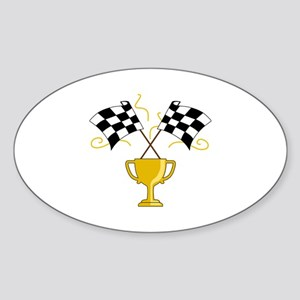 RACING FLAGS TROPHY CUP Sticker