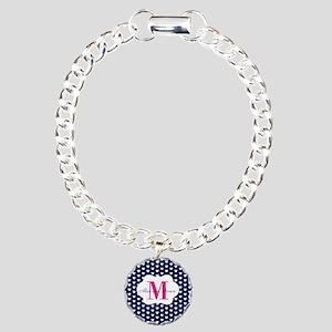 Monogram and Hearts Bracelet