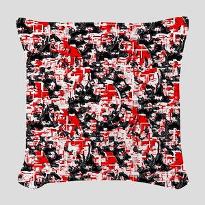 Abstract Chaos Woven Throw Pillow