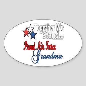 Air Force Grandma Oval Sticker