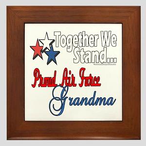 Air Force Grandma Framed Tile