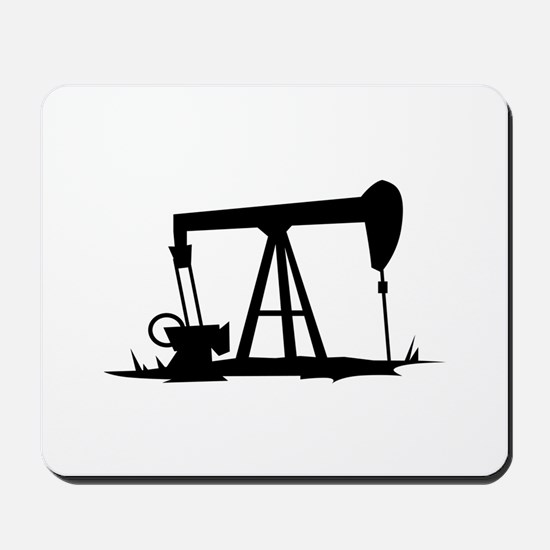 OIL WELL SILHOUETTE Mousepad