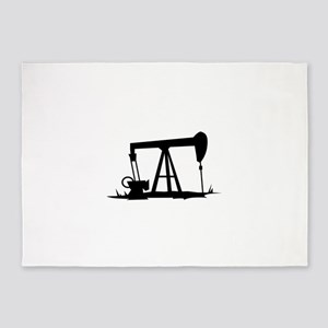 OIL WELL SILHOUETTE 5'x7'Area Rug