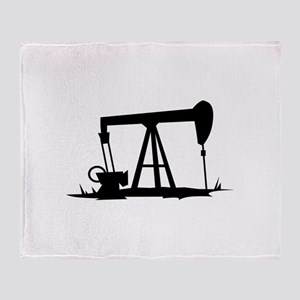 OIL WELL SILHOUETTE Throw Blanket