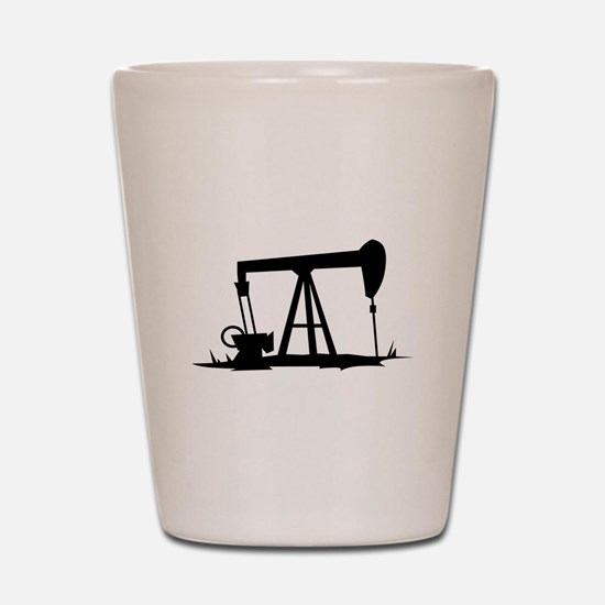 OIL WELL SILHOUETTE Shot Glass