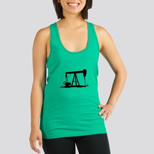 OIL WELL SILHOUETTE Racerback Tank Top