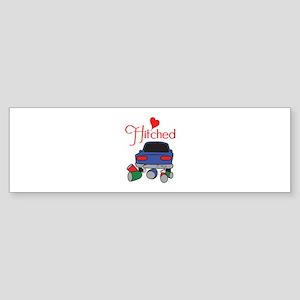 HITCHED Bumper Sticker