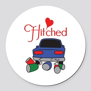 HITCHED Round Car Magnet