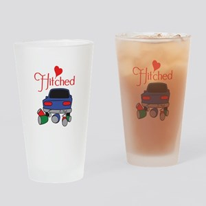 HITCHED Drinking Glass
