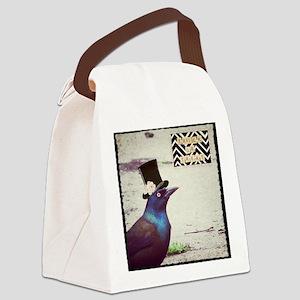 Halloween Grackle Canvas Lunch Bag