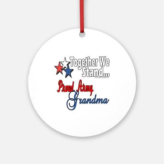 Army Grandma Ornament (Round)