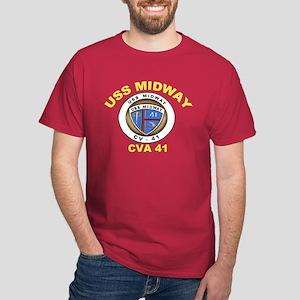 USS Midway CV-41 Dark T-Shirt