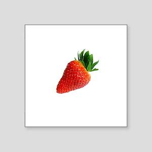 red white minimalist strawberry Sticker