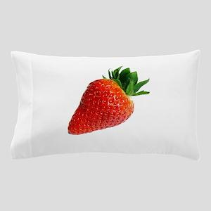 red white minimalist strawberry Pillow Case