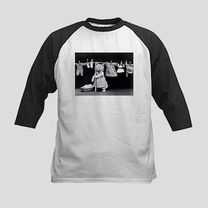 vintage laundry cat black white ph Baseball Jersey