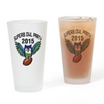 Superb Owl Party Drinking Glass