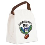Superb Owl Party Canvas Lunch Bag