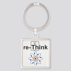 re-Think Square Keychain