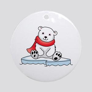 BABY POLAR BEAR Ornament (Round)