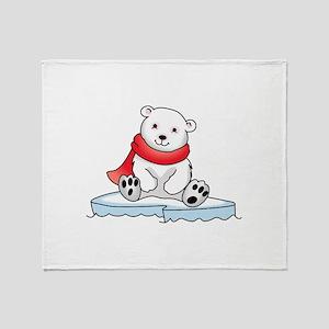 BABY POLAR BEAR Throw Blanket