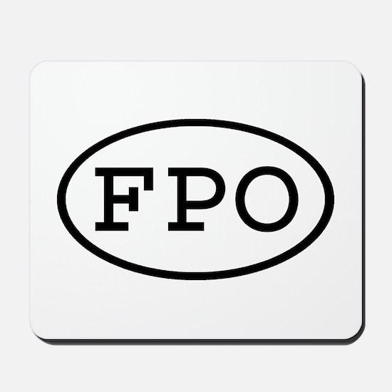 FPO Oval Mousepad