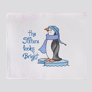 THE FUTURE LOOKS BRIGHT Throw Blanket