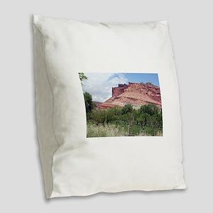 Fruita, Capitol Reef National Burlap Throw Pillow