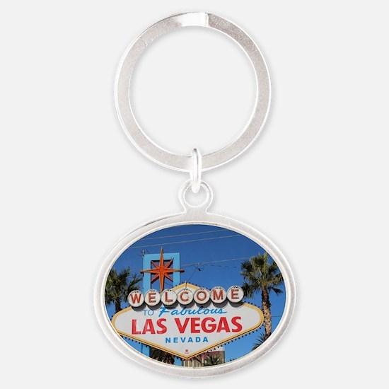 Cute Las vegas Oval Keychain