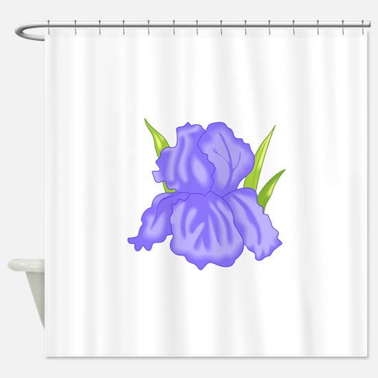 IRIS FLOWER Shower Curtain