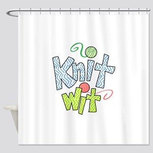 KNIT WIT Shower Curtain