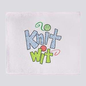 KNIT WIT Throw Blanket
