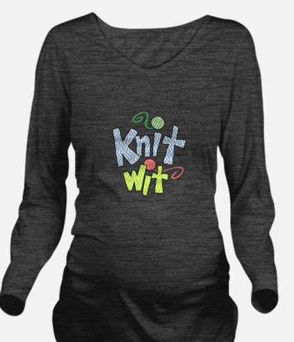 KNIT WIT Long Sleeve Maternity T-Shirt