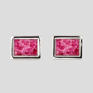 Pale pink roses Rectangular Cufflinks