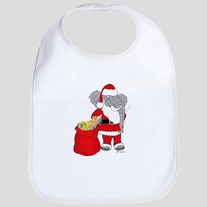 """Sant""""E"""" Claus Christmas/Holiday  Bib"""