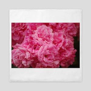 Pale pink roses Queen Duvet