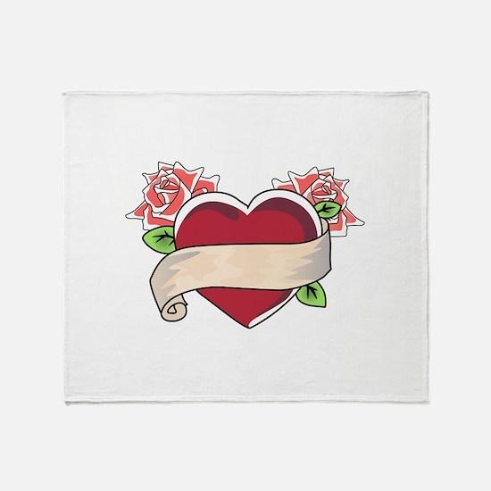 TATOO HEART Throw Blanket