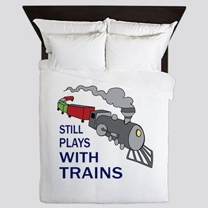 PLAYS WITH TRAINS Queen Duvet