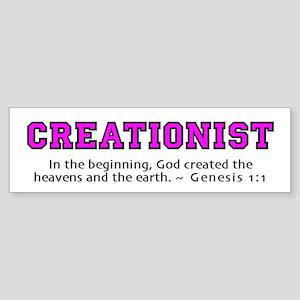 Creationist (PNK) 2.0 - Bumper Sticker