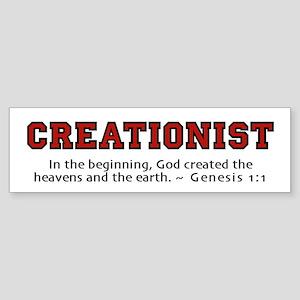 Creationist (RED) 2.0 - Bumper Sticker