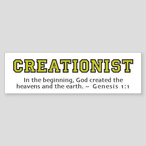 Creationist (YLW) 2.0 - Bumper Sticker