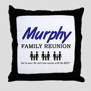 Murphy Family Reunion Throw Pillow